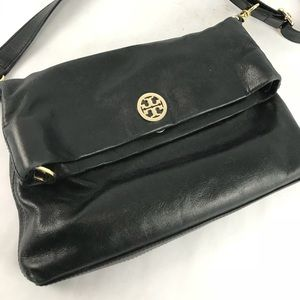 Tory Burch black leather crossbody bag